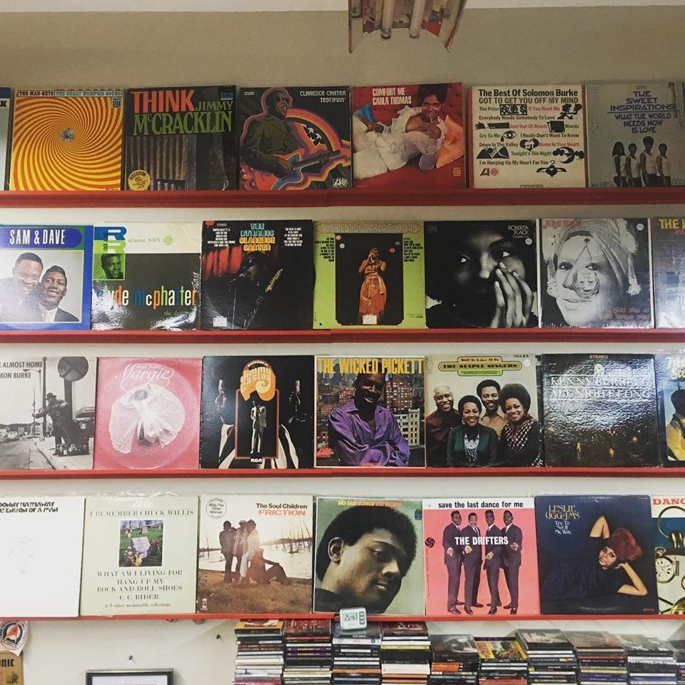 records at pandemonium store in Toronto