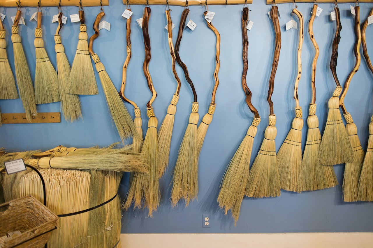 handcrafted brooms from Granville Island Broom Co.