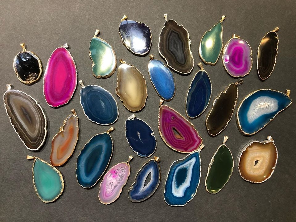 collection of pendants from Beadworks Vancouver