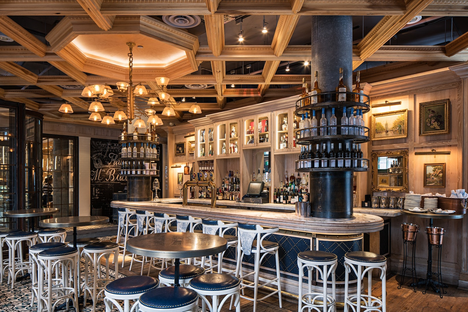 interior of the Cluny Bistro in Toronto