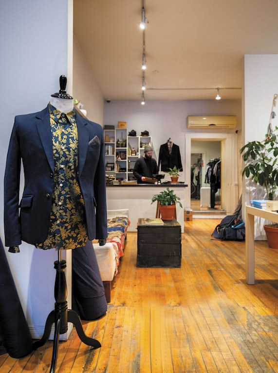 tailored suit at 18 Waits store
