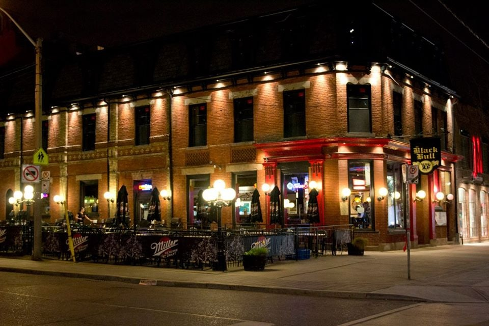 exterior of the Black Bull pub in Toronto