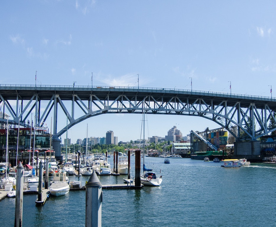 the Granville Street bridge in Vancouver