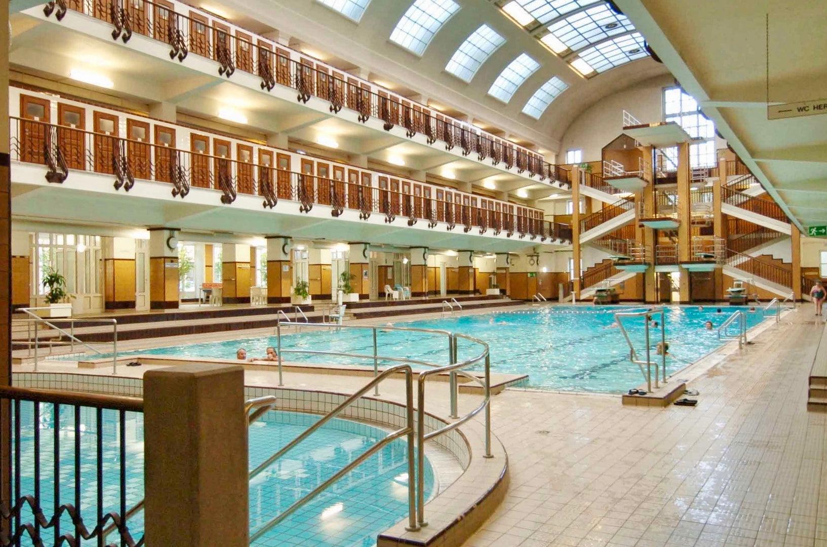 swimming pool at the Amalienbad Vienna