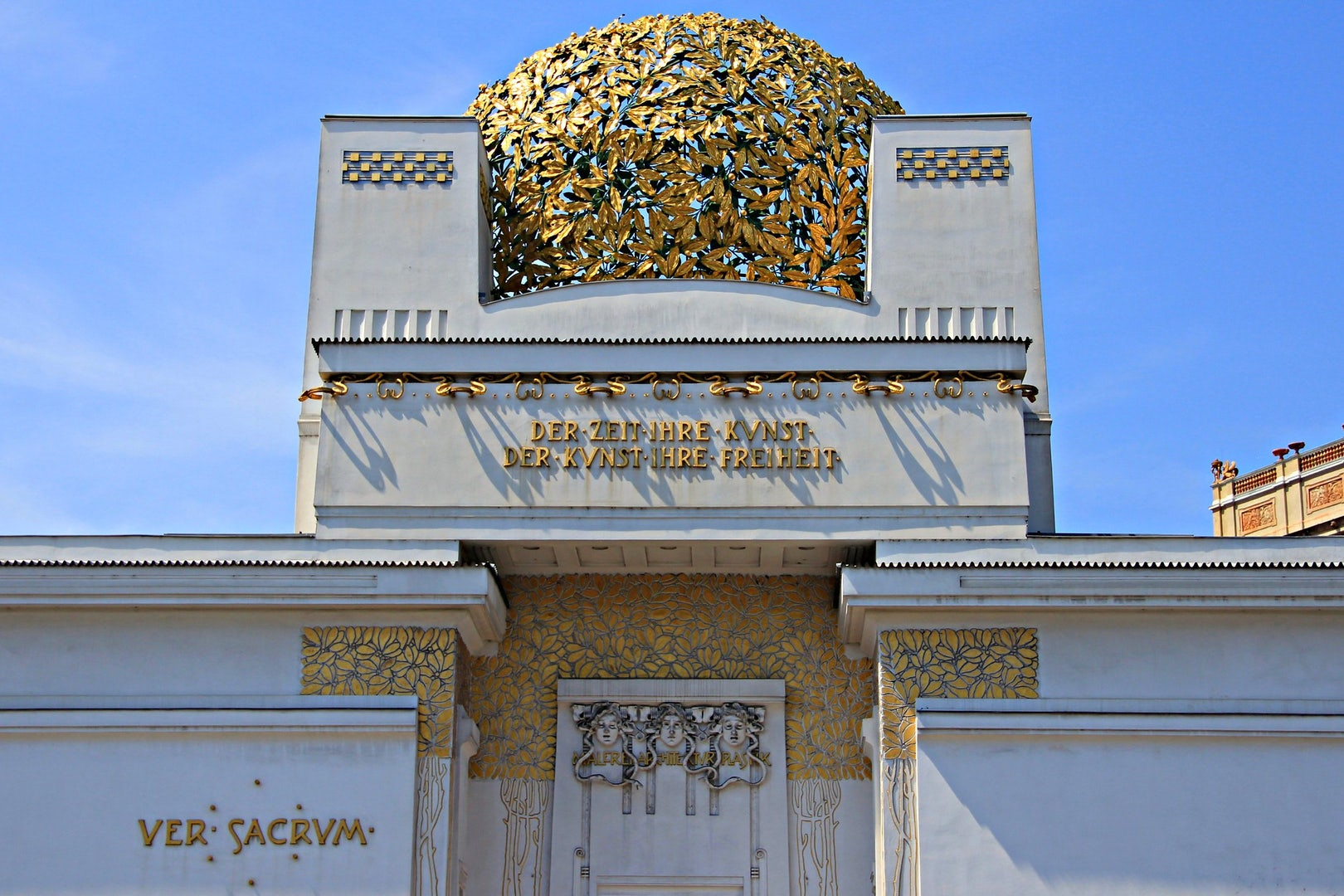 close up of golden dome at the Secession Vienna