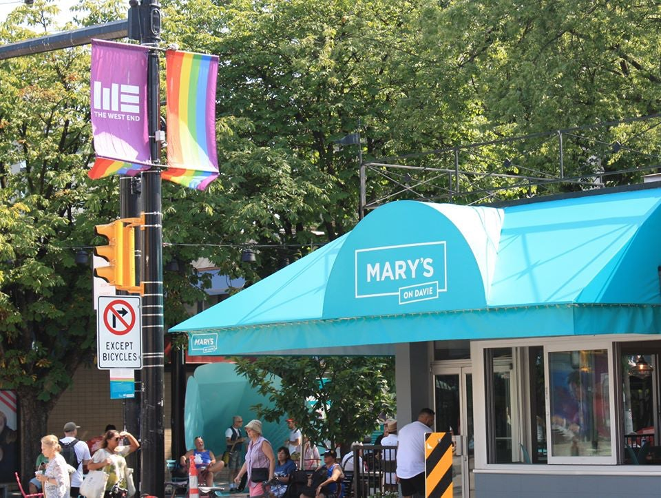 Mary's on Davie bar in Vancouver