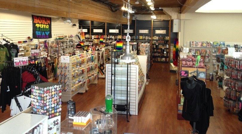 shop interior of Little Sisters Books & Art Emporium