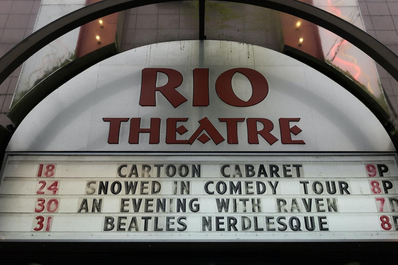 light sign of the Rio Theatre