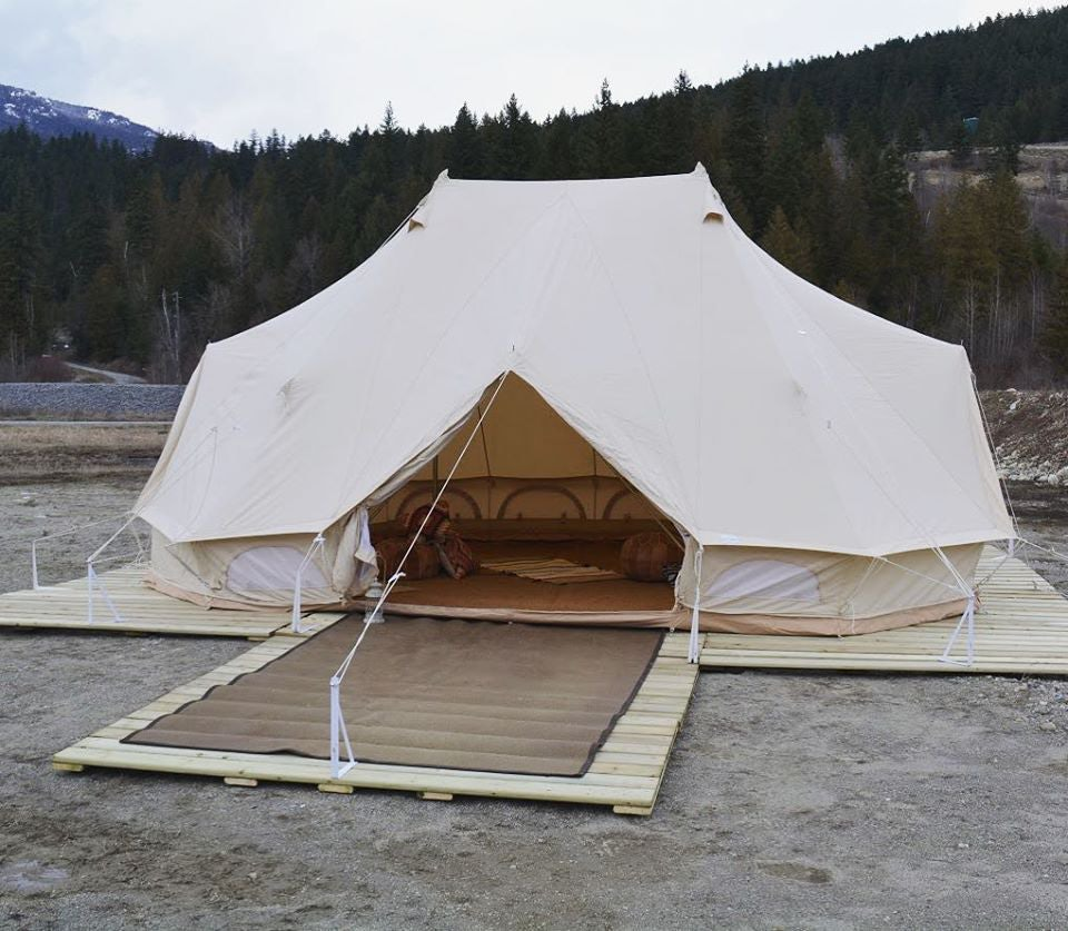 a glamping tent from Wild Havens Vancouver