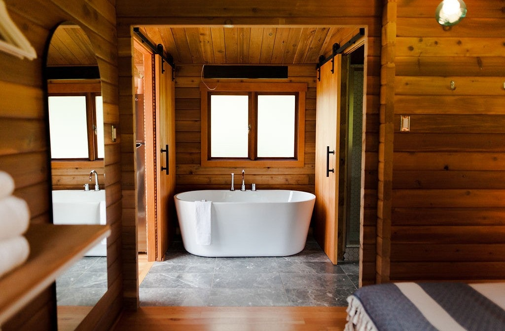 bathroom interior of Bodega Cove cabin in Vancouver