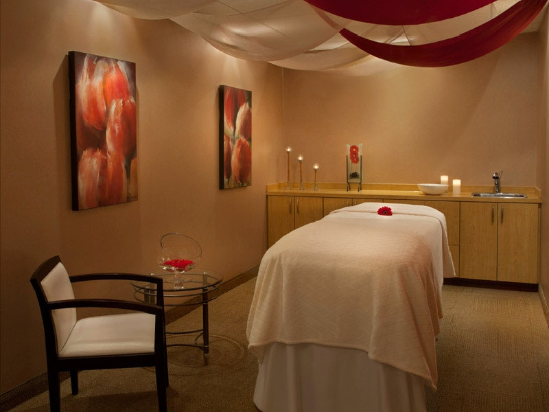 interior of a massage room at the White Oaks Resort & Spa