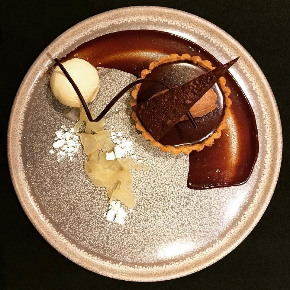 chocolate dessert from Forage