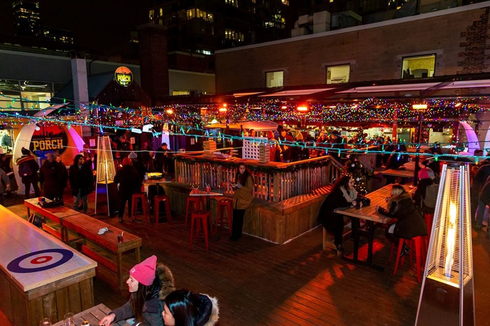 Christmas-themed evening at The Porch in Toronto