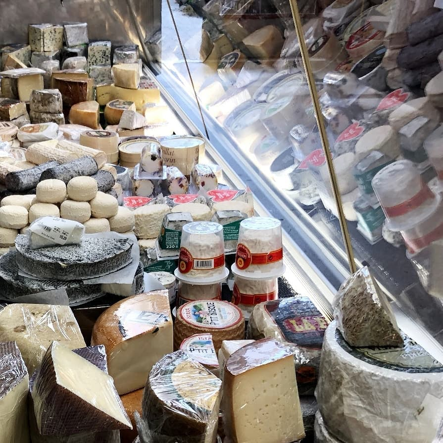 cheese displayed at Benton Brother Fine Cheese