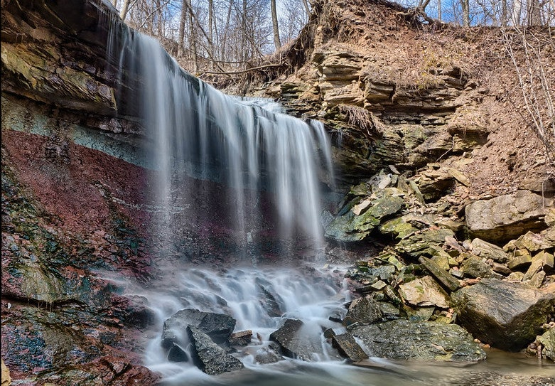 long exposure photo of the Chedoke falls in Toronto