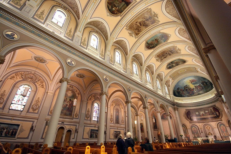 interior of the St Pauls Basilica in Toronto