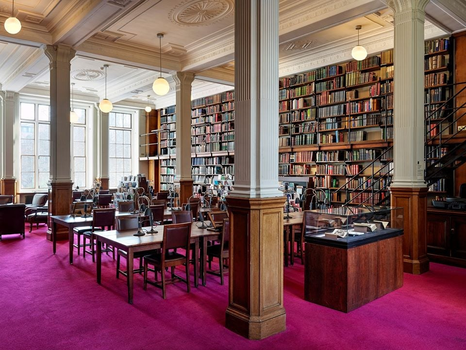 reading room at the London Library
