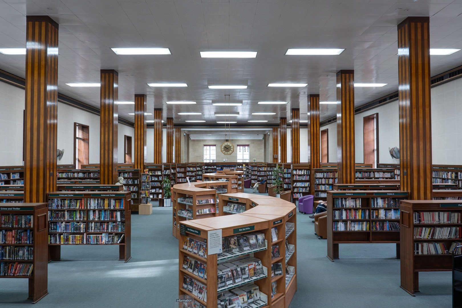 interior of the Kensington Central Library