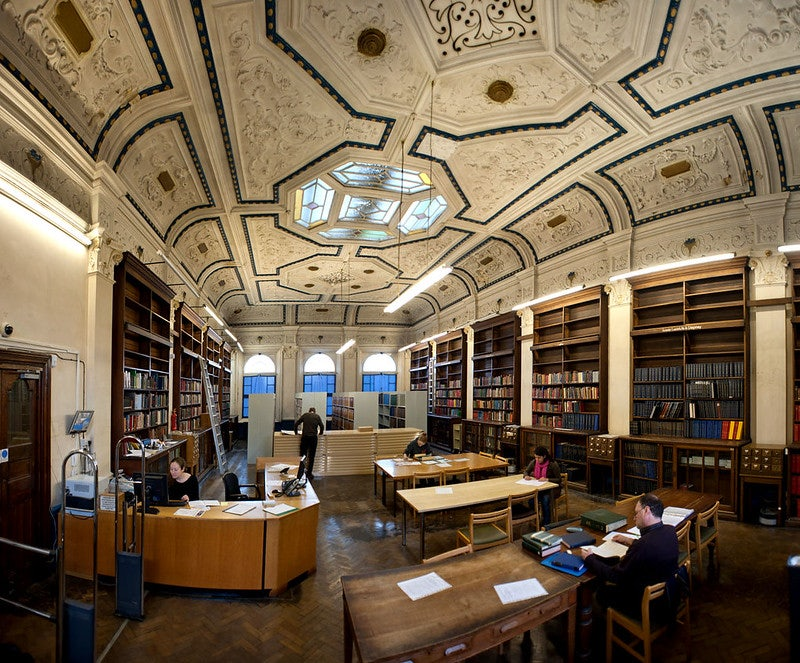 reading room at the Bethnal Green Library London