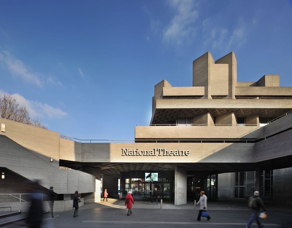 brutalist exterior of the National Theatre London