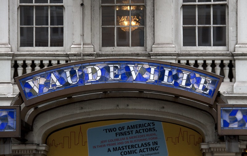 facade of the Vaudeville theatre