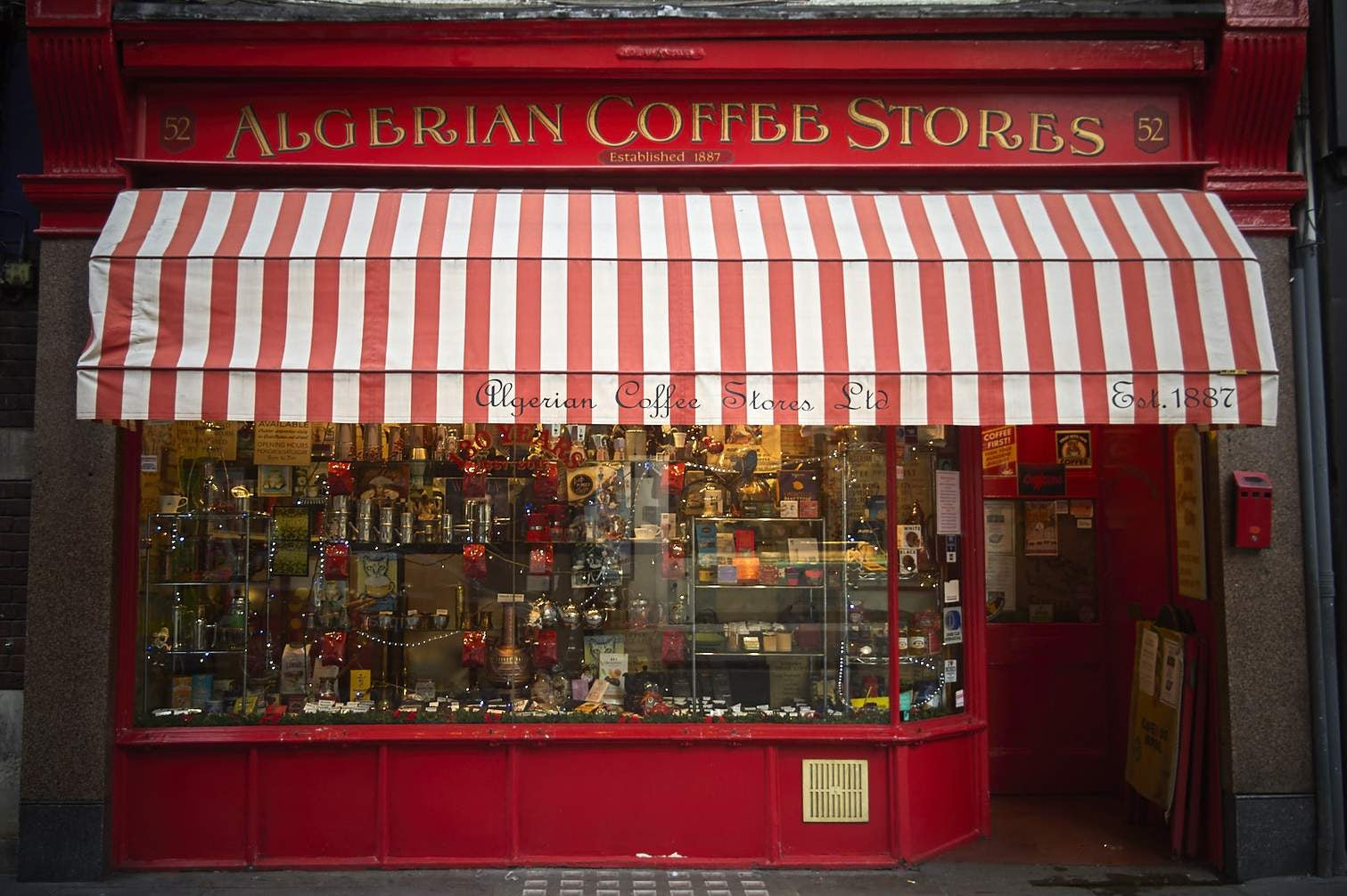 street view of the Algerian Coffee Stores