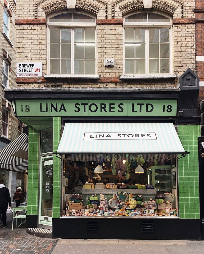 exterior of Lina Stores in London