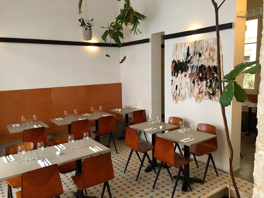 interior of Supernature restaurant in Paris