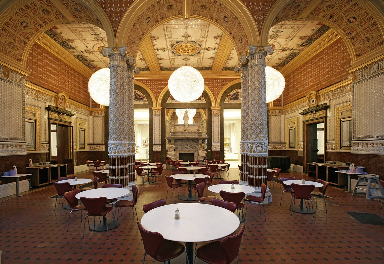 The Garden Café teahouse at the V&A museum
