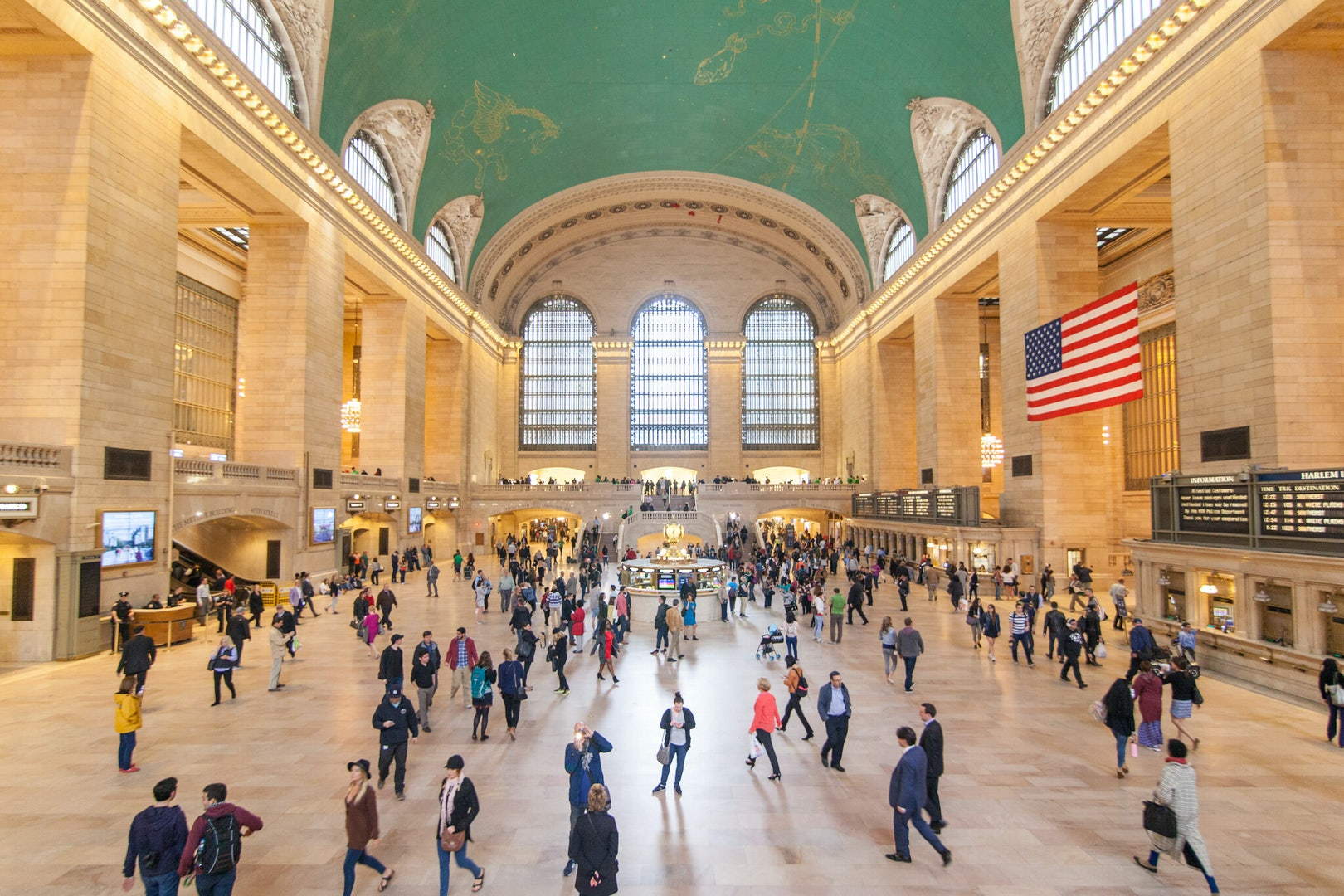 people in the hall of Grand Central Station NYC