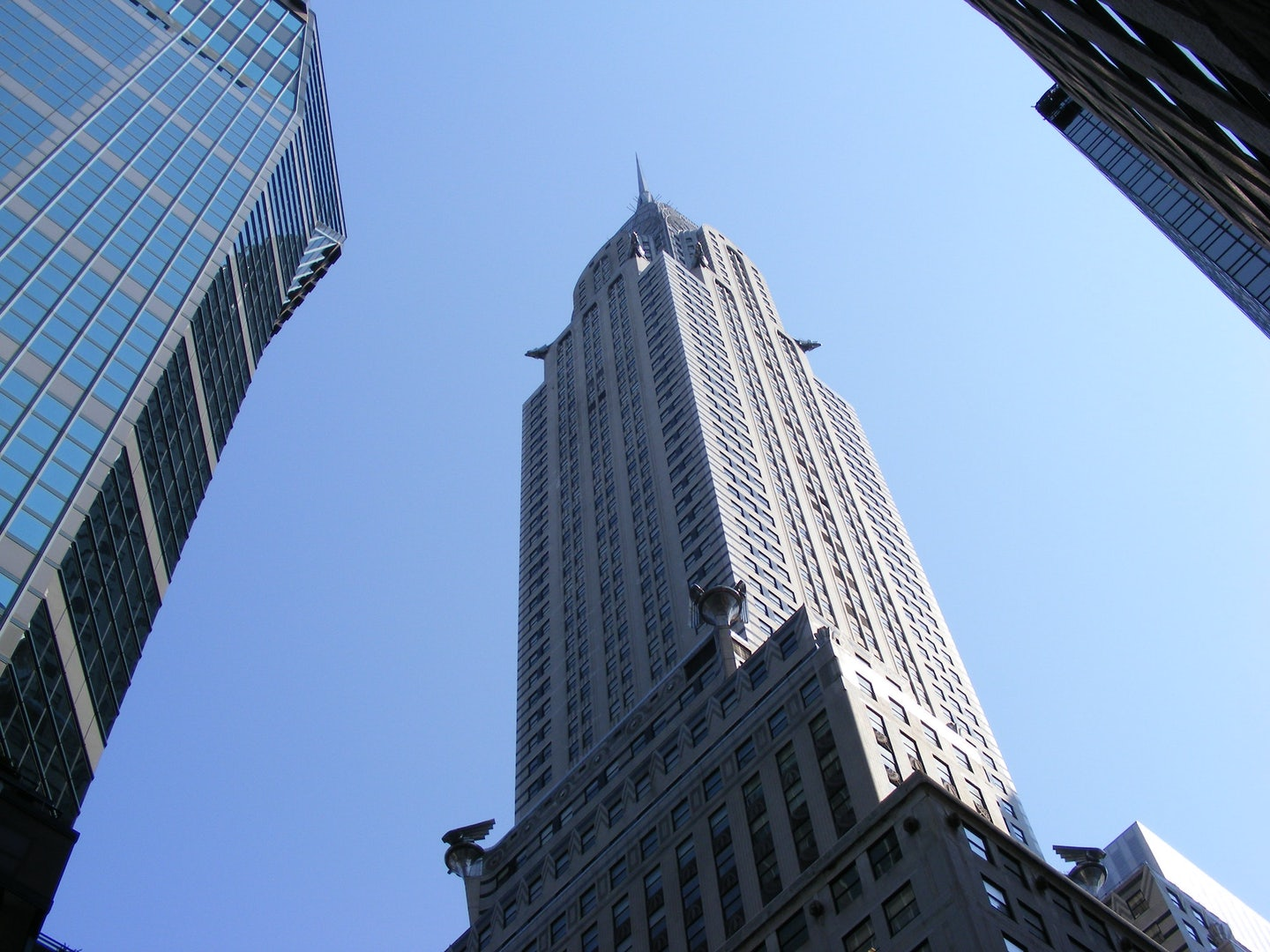 view of the Chrysler Building in NYC