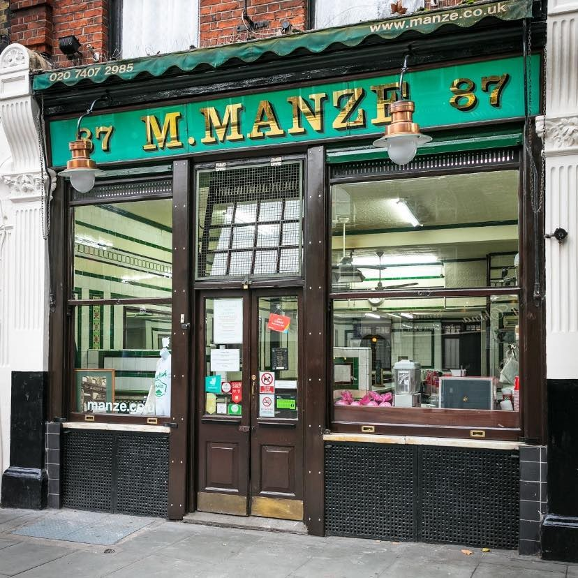 M. Manze pie and mash store in Tower Bridge Road