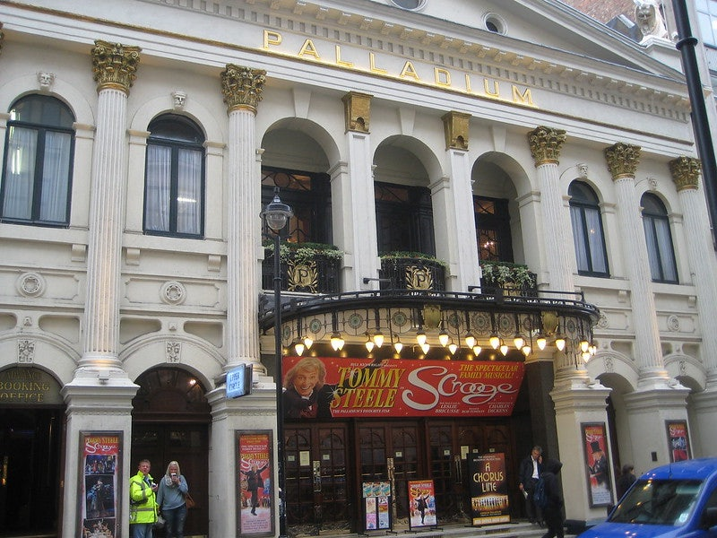 facade of the London Palladium