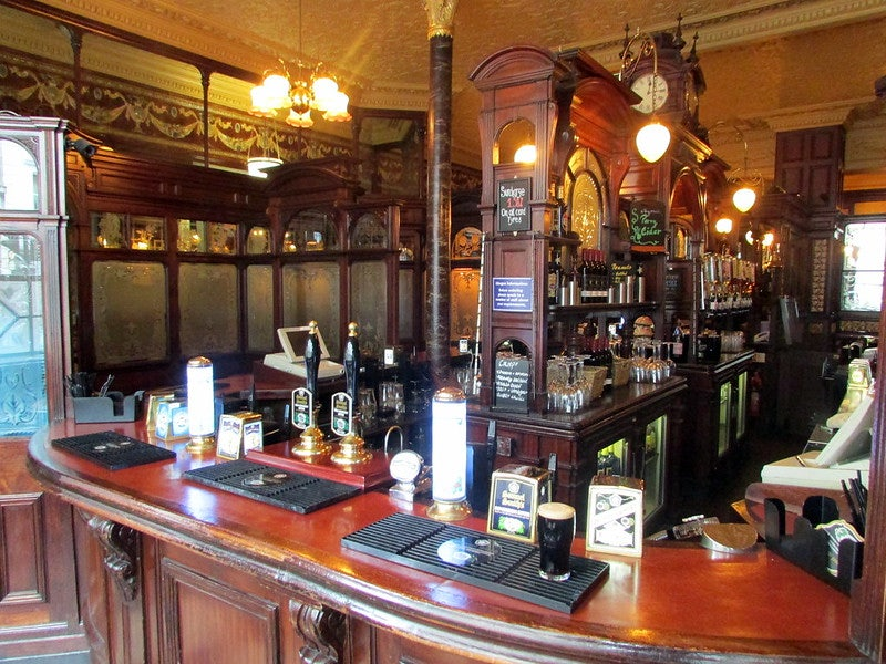 old-fashioned interior of Princess Louise bar
