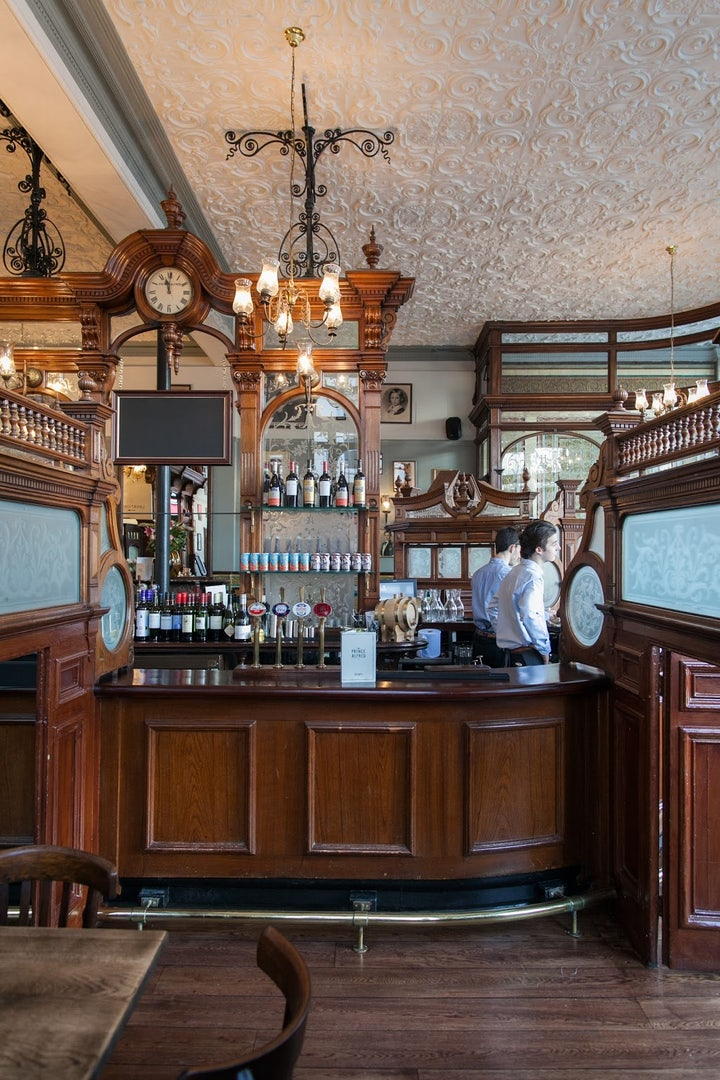 vintage decor of Prince Alfred pub