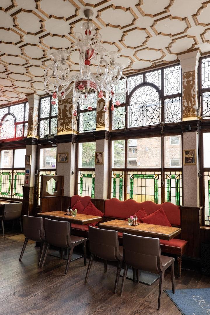bar interior of Crocker's Folly