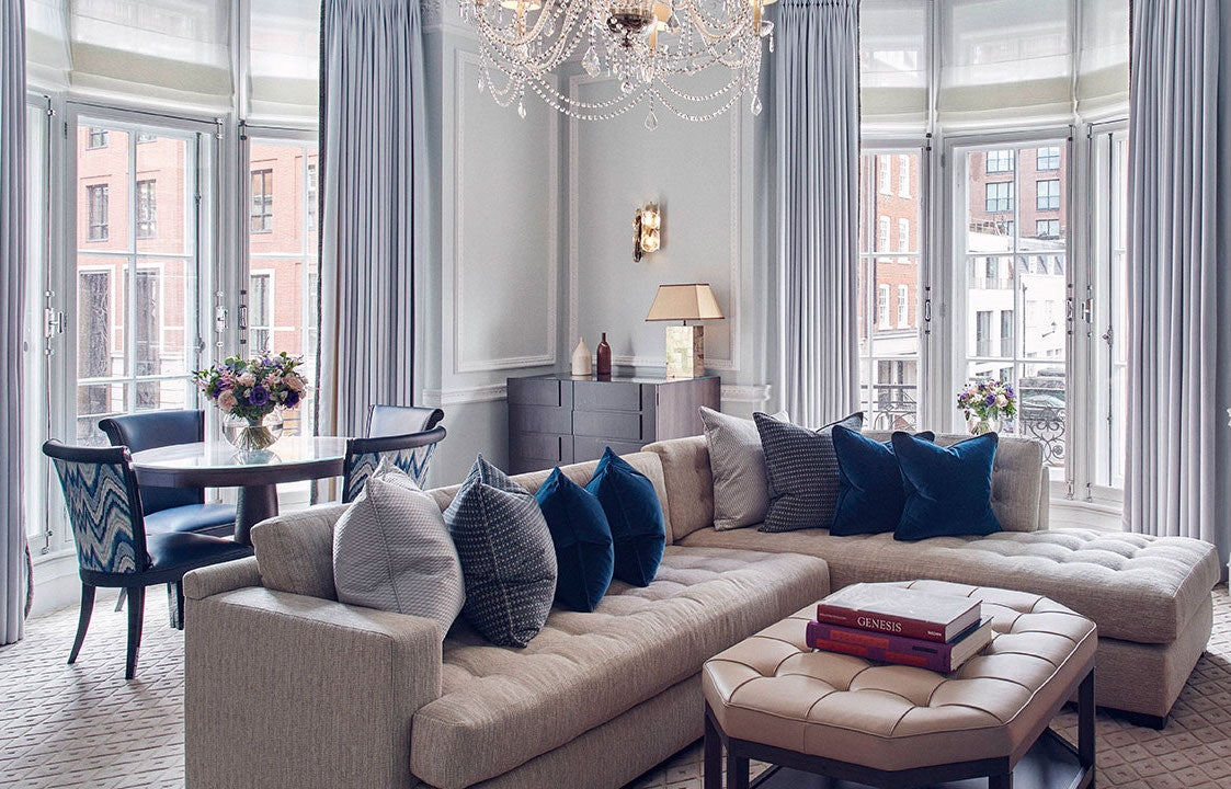 lounge at a suite at Claridge's London