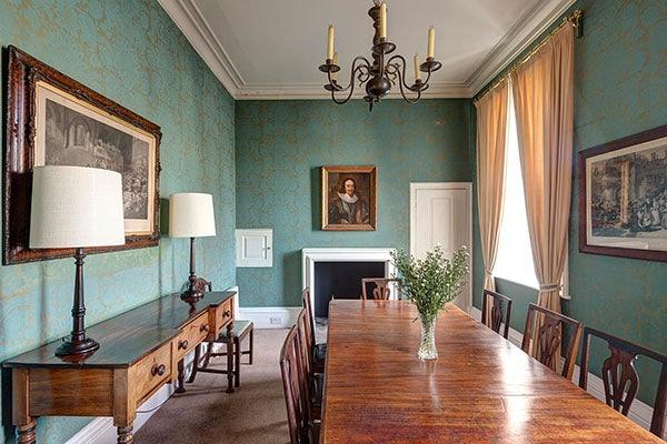 dining room at the Georgian House at Hampton Court Palace