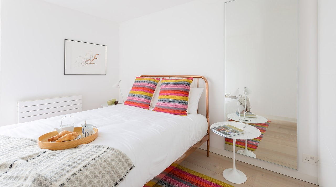 a bedroom at the Brunswick Centre London