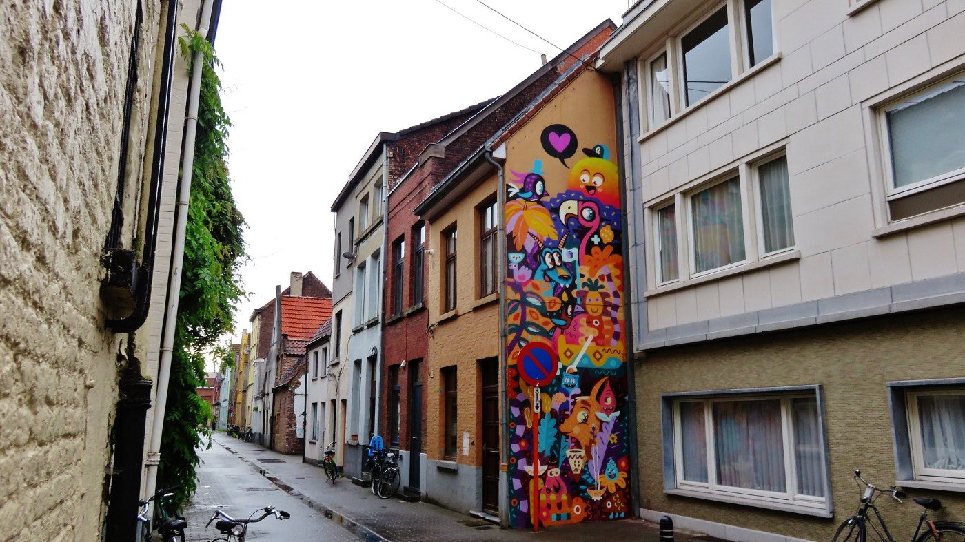 Ghent - mural by Bué the Warrior, Alex & Billy and Merny Wenz