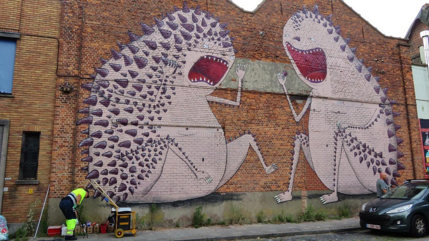 Ghent - Bisser: Candy war mural