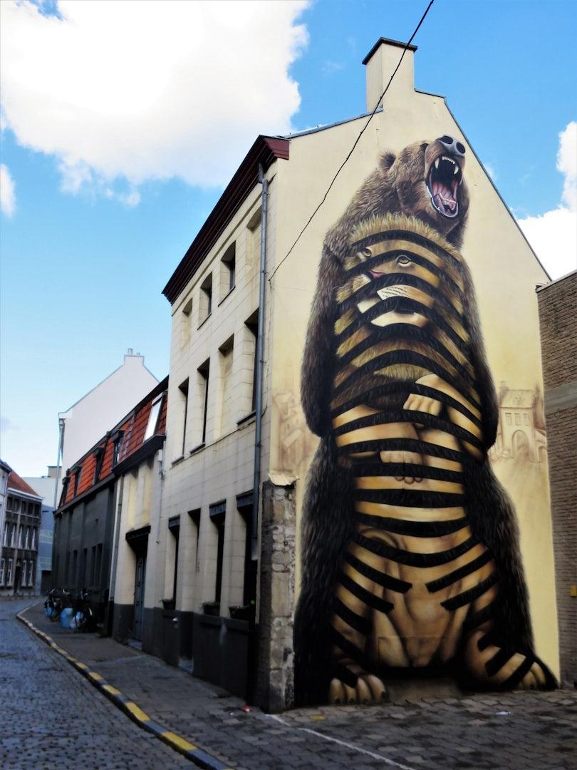 Ghent - Cee Pil: the Lion's Den street art mural