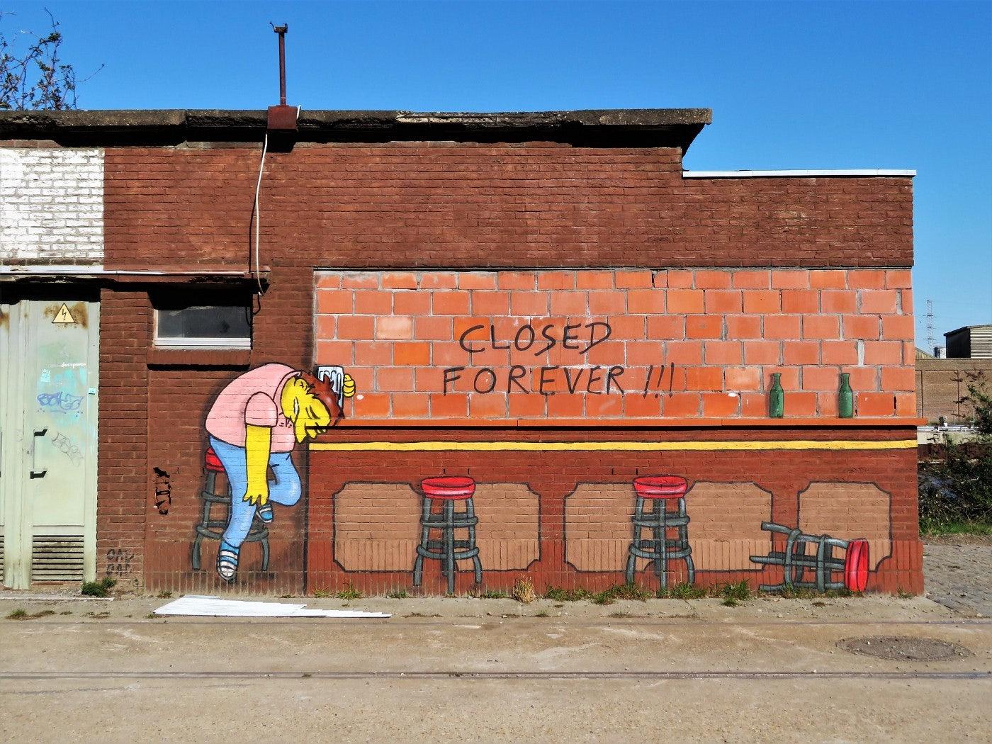 Ghent - Oak Oak: Closed Forever mural