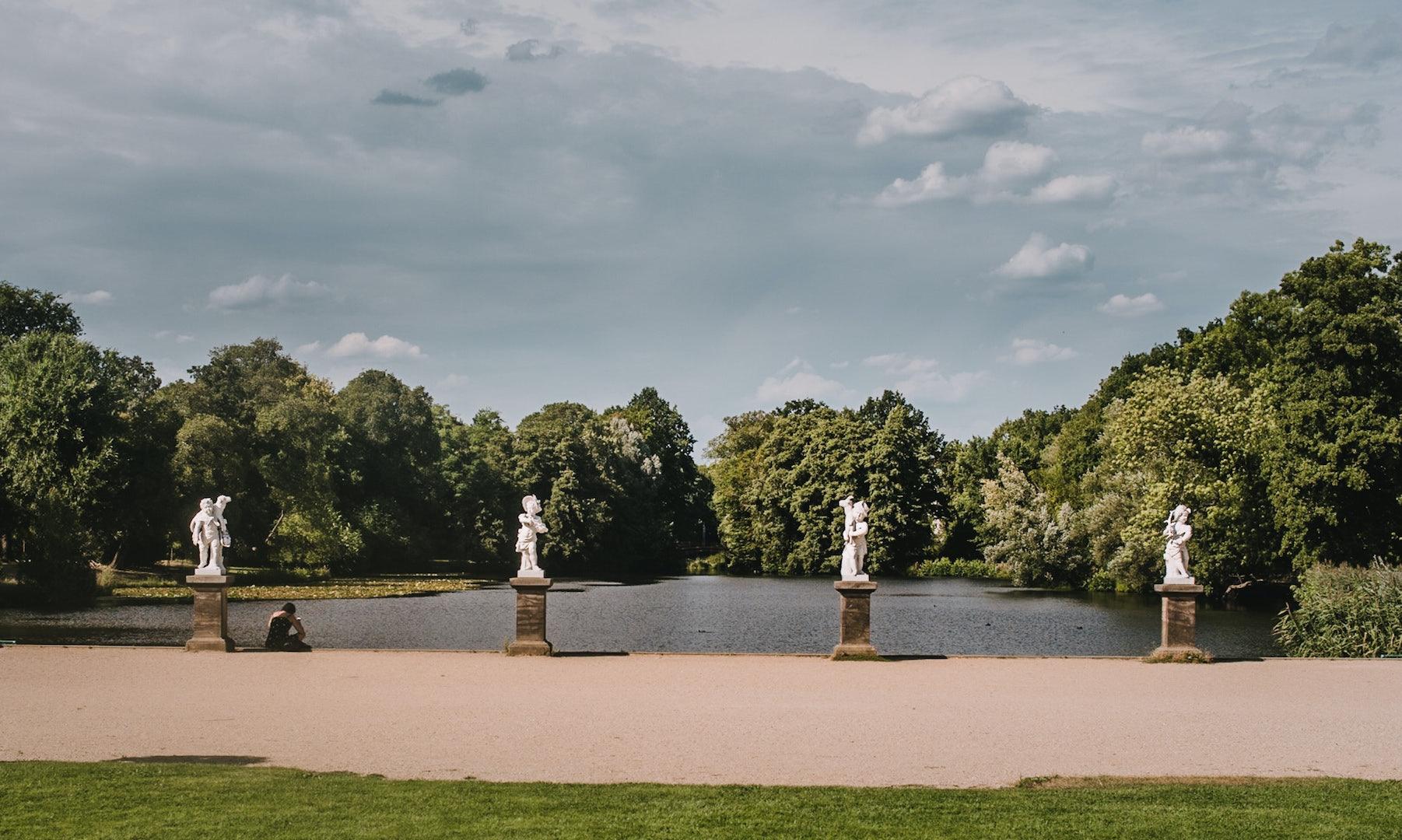 the garden at the Schloss Charlottenburg