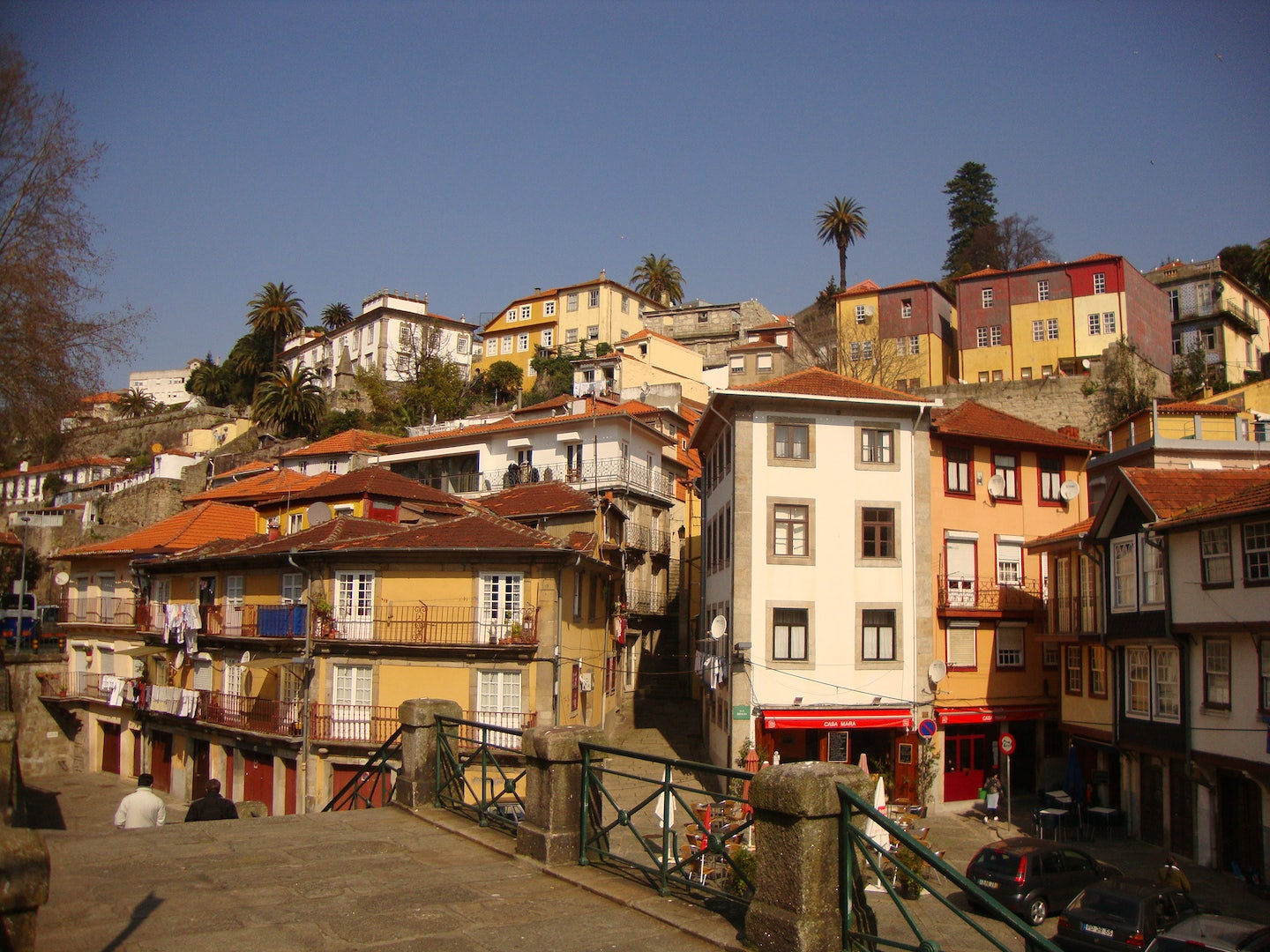 Colourful house in the Miragaia neighbourhoud in Porto