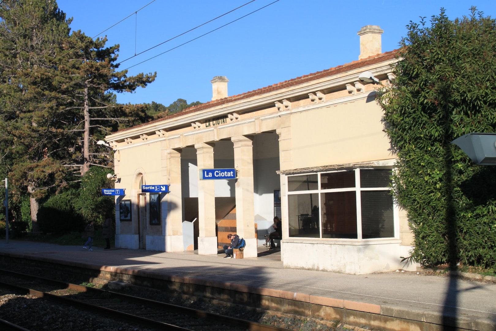 cute little train station of La Ciotat in France