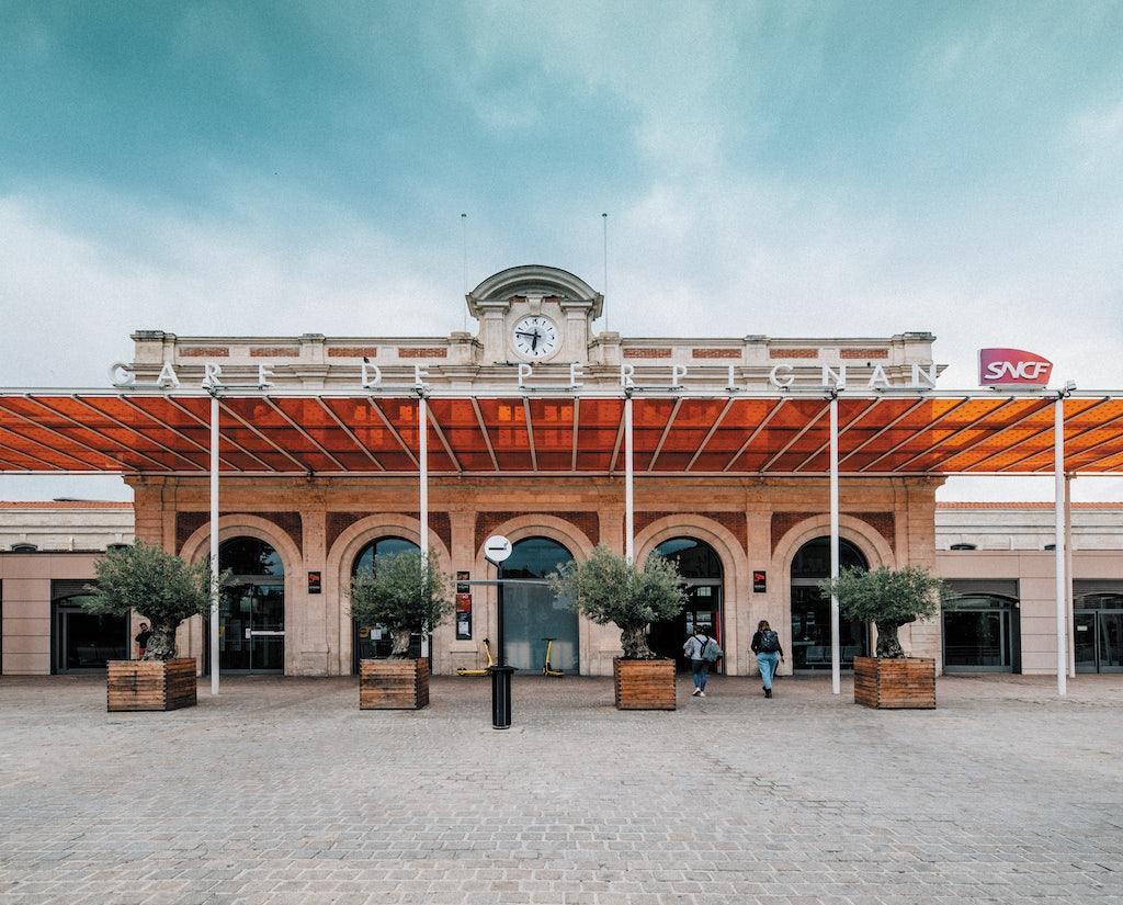 front entrance of the Gare de Perpignan