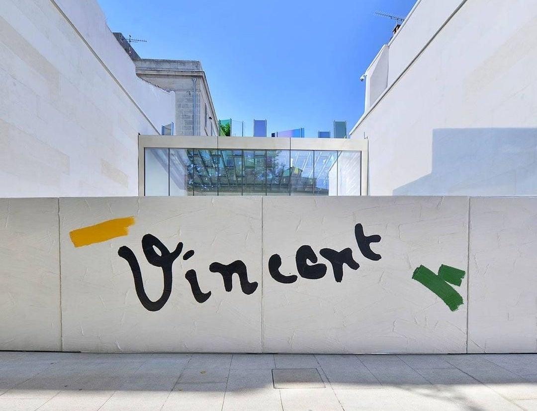 the entrance of the Fondation Vincent van Gogh Arles