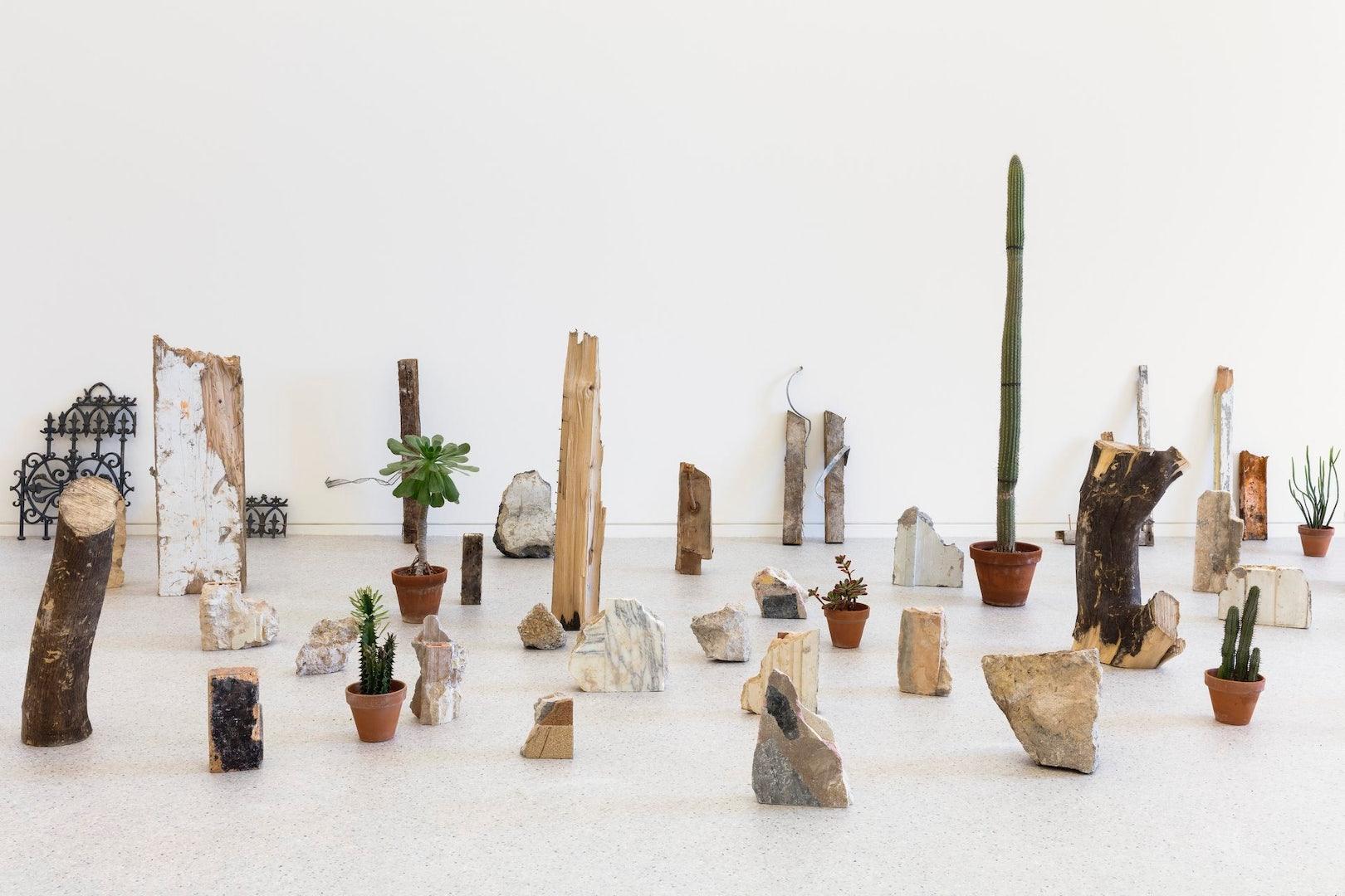small sculptures and pieces of art at the Nouveau Musée National de Monaco