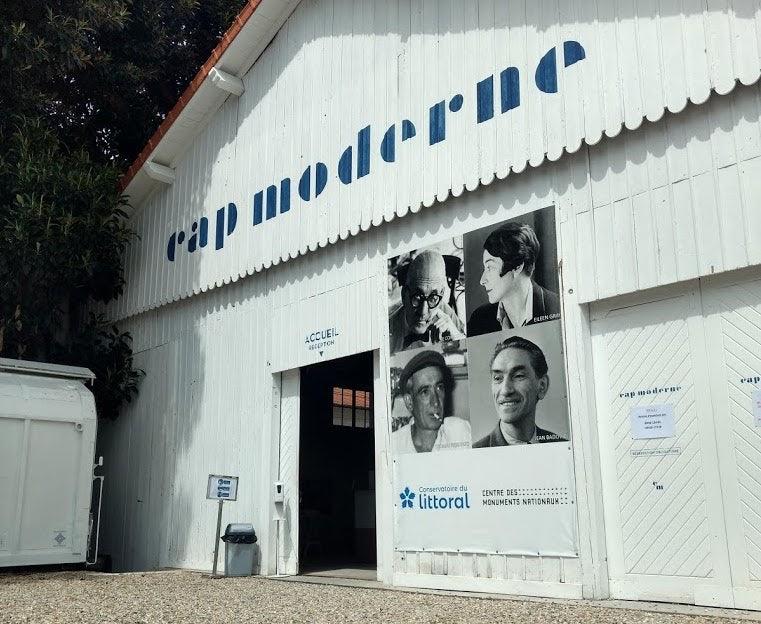 exterior of the hangar at Cap Moderne
